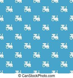 azul, padrão, trem, seamless, brinquedo
