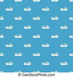 azul, padrão, trem, seamless, frete