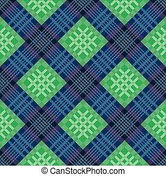 azul, padrão, verde, diagonal, seamless