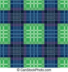 azul, padrão, verde, seamless, retangular
