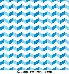 azul, padrão, vetorial, aztec, chevron
