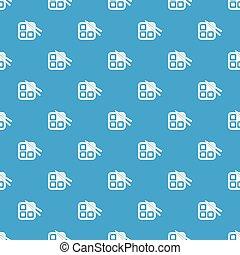 azul, padrão, vetorial, sushi, seamless