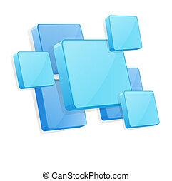 azul, painéis, vetorial, fundo, 3d