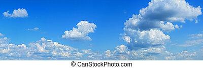 azul,  panorama, cielo