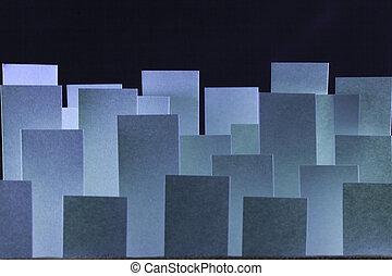 azul, papel, banderas