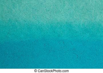 azul, papel, fundo, verde
