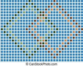 azul, papel parede, -, seamless, mosaico