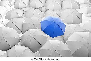 azul, paraguas