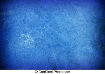 azul, parede, antigas, cimento, fundo