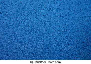 azul, parede, cimento