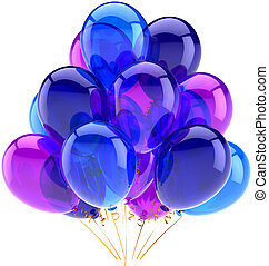 azul, Partido, decoração, balões