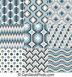 azul, pastel, cerceta, color, patrón