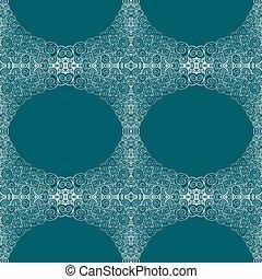 azul, patrón, azulejos, seamless