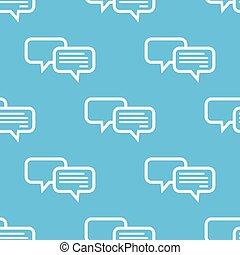 azul, patrón, charlar