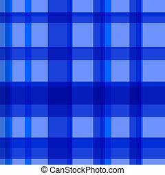 azul, patrón, comprobado, seamless