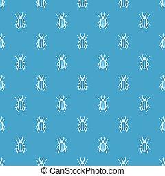 azul, patrón, lucanus, seamless, cervus