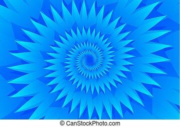 azul, patrón, resumen, vector, estrella