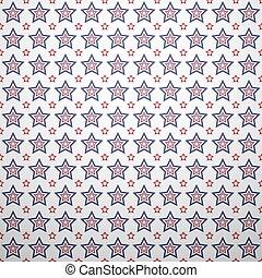 azul, patrón, seamless, patriótico, blanco, geométrico, rojo