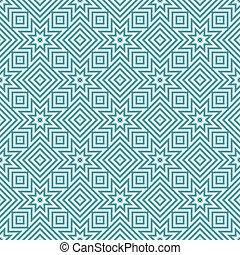 azul, patrones, blanco, seamless, geométrico