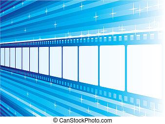 azul, película