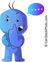 azul, pensamiento, ilustración, vector, plano de fondo,...