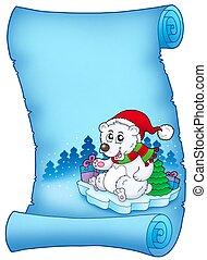 azul, pergaminho, urso, natal
