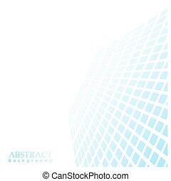 azul, perspective., extensión, cuadrados, distancia