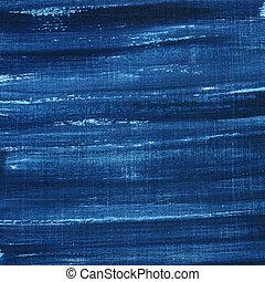 azul, pintado, arranhado, grunge, textura