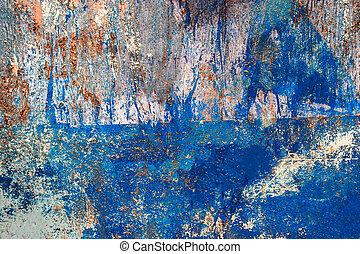 azul, pintado, padrão, artificial, pranchas, madeira, fundo, ou, textura