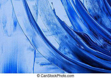 azul, pintura abstrata