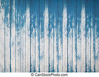 azul, placas, cerca, textura, madeira, fundo, áspero