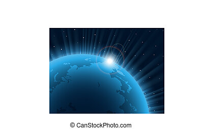 azul, planet.
