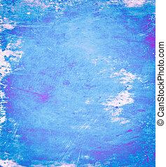 azul, Plano de fondo