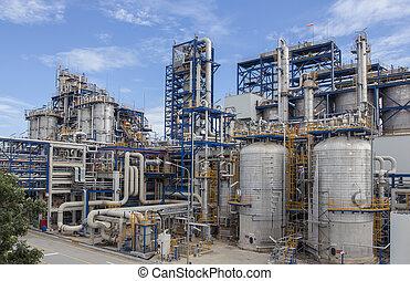 azul, planta petrochemical, inteligência, céu