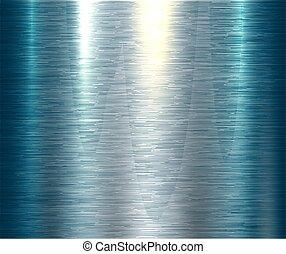 azul, polido, textura, metálico