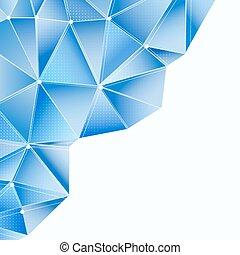 azul, polygonal, projeto abstrato, fundo