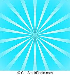 azul, ponha ao sol experiência, raio