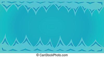 azul, pontas, fundo, topo, caverna, fundo