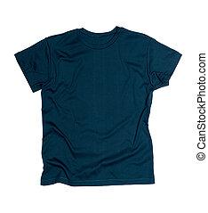 azul, poseer, oscuridad, tshirt, plantilla, gráficos, listo, su
