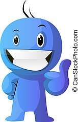 azul, positivo, ilustración, vector, plano de fondo,...