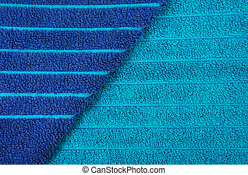 azul, praia, listrado, toalha