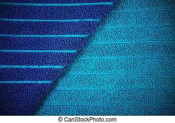 azul, praia, listrado, toalha, fundo