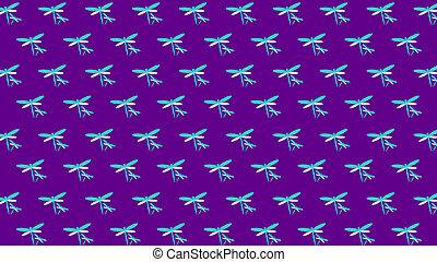 azul, primavera, neón, ilustración, plano de fondo, violeta...