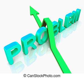 azul, problema, palavra, meios, pergunta, para, resposta
