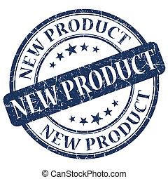 azul, producto nuevo, estampilla