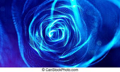 azul, profundidade, fazendo, forma, ciência, v10, microcosmo...