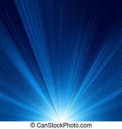 azul, projeto cor, com, um, burst., eps, 8