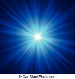 azul, projeto cor, com, um, burst., vetorial, ilustração