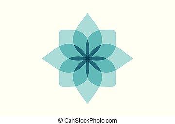 azul, projetos, flor, abstratos, isolado, fundo, logotipo, branca, inspiração