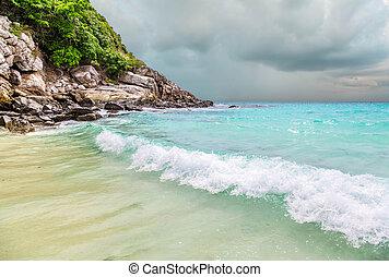 azul, provincia, racha., isla de phuket, ko, laguna,...